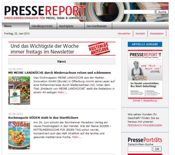 Presse Report Einzelhandelsmagazin Für Presse, Tabak U0026 Convenience »»